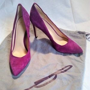 Brian Atwood B-Malika Pur Suede Pink size6.5 EUC